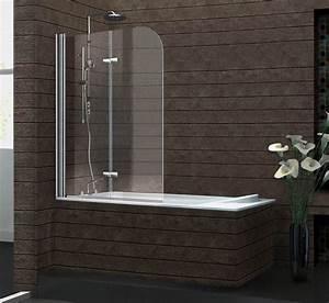 pare baignoire avec volet rabattable design With porte d entrée alu avec meuble salle de bain bonne qualité