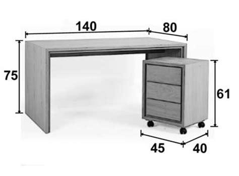 bureau d ude g technique bureau multimédia chêne 140 cm personnalisable groomy 5774
