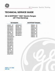 Ge Hotpoint Electric Range Service Manual
