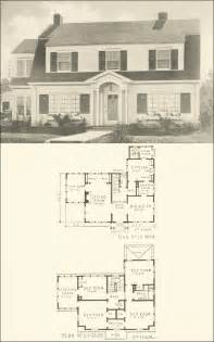 Surprisingly Vintage House Plans by Colonial Revival 1920s House Plan No 3028