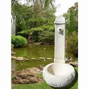 Fontaine De Jardin Pas Cher : fontaine en pierre blanche reconstitu e 95x45x45cm achat ~ Carolinahurricanesstore.com Idées de Décoration