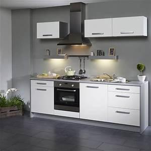 Decoration cuisine blanc et grise for Idee deco cuisine avec modele cuisine grise et blanc