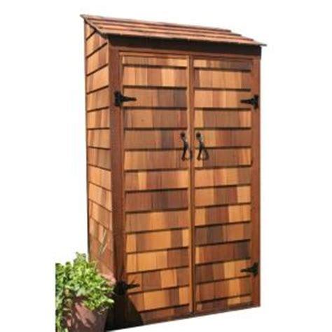 greenstone 3 ft x 2 ft cedar garden hutch tool shed