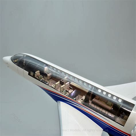 home interiors and gifts dassault falcon 8x model with detailed interior and lights