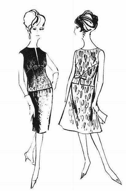Coloring Models 1960s Drawings Sketches 1960 Illustration