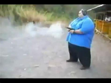 fat guy  crazy gun  ballistic video ebaums world