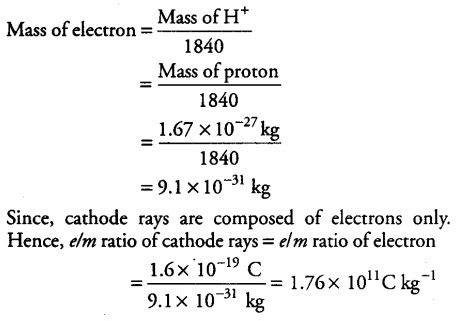 Mass Of A Proton And Electron by If The Mass Of A Proton Is 1 67x 10 27 Kg Cbse