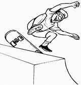 Skateboard Coloring Skateboarding Pages Extreme Sports Skateboards Skateboarder Halfpipe Printable Boy Apparel Sport Jumping Tricks Hawk Tony Bart Simpson sketch template