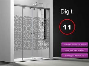 paroi de douche coulissante 120 pas cher With carrelage adhesif salle de bain avec ecran led 4 3