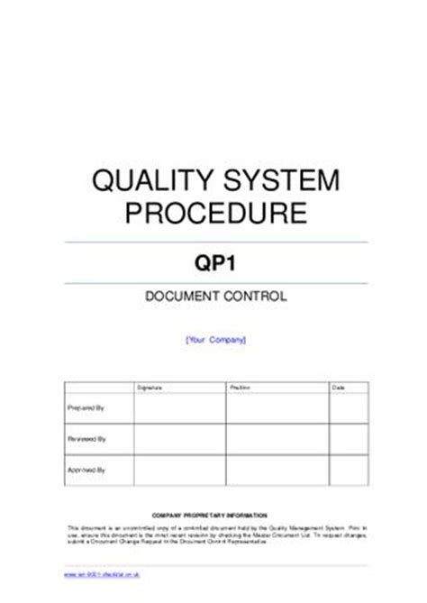 Document-control-procedure-example By Iso 9001 Checklist
