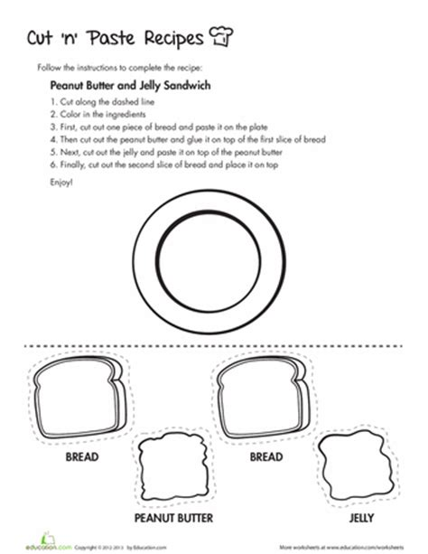 8 tasty cut and paste recipes education