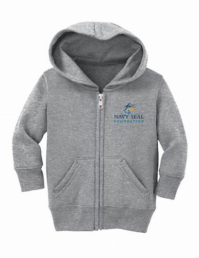 Hooded Sweatshirt Zip Infant Toddler Navysealfoundation