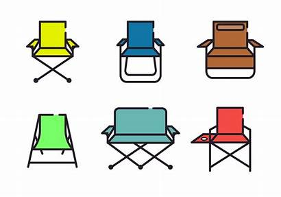 Chair Vector Lawn Minimalist Clipart Rocking Wooden