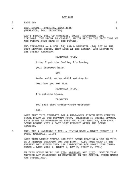 documentary script template ada executive summary pdf