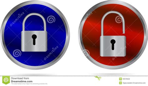 Lock And Unlock Stock Photography