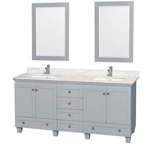 double sink vanity top 72 accmilan 72 inch double sink bathroom vanity in grey