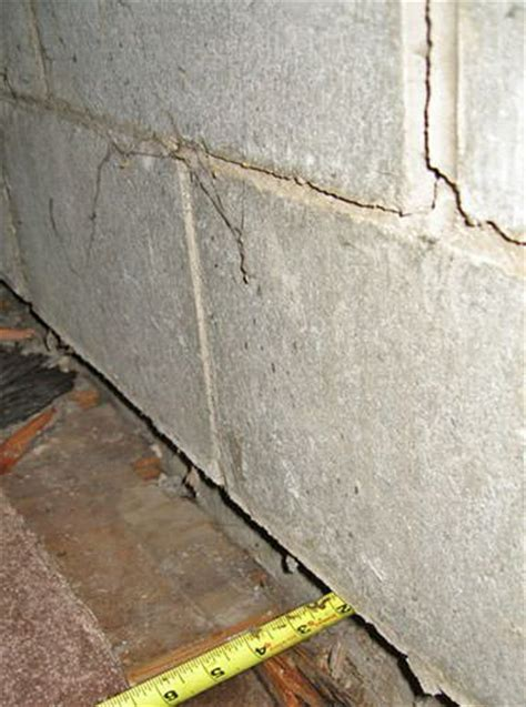 Bowing Foundation Wall Repairs In Michigan   Buckling
