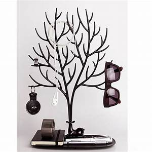 Support à Bijoux : arbre bijoux tendance noir arbre a bijoux qualy ~ Teatrodelosmanantiales.com Idées de Décoration