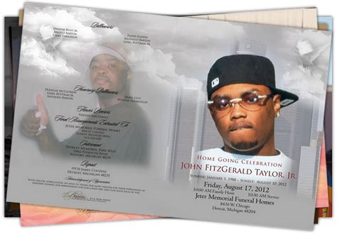 obituary program templates clipart images gallery