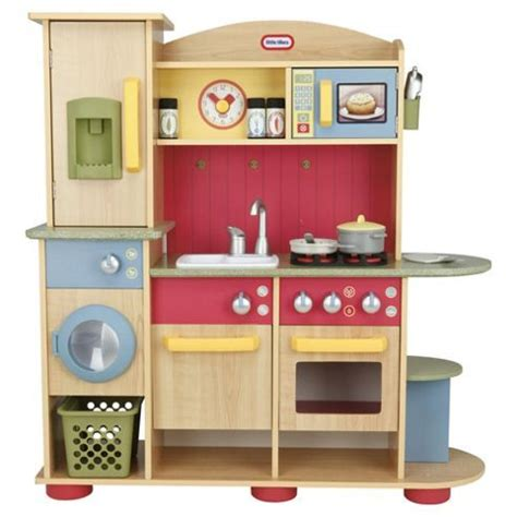 toddler kitchen playset tikes premium wooden kitchen playset wooden