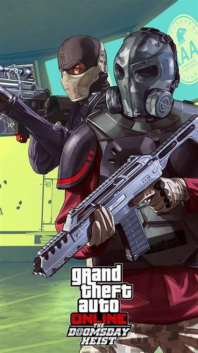 Heist Gta Doomsday Theft Grand Wallpapers 4k