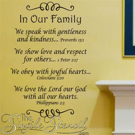 family bible verse wall quote bible verse family