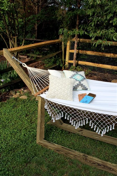 How To Make Your Own Hammock Stand by How To Make A Free Standing Hammock Stand Hunker