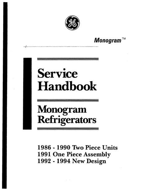 ge monogram refrigerator service handbook manualzz