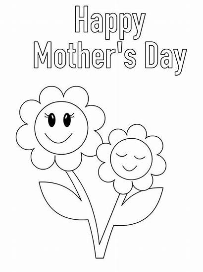 Mothers Coloring Mother Pages Happy Cards Card