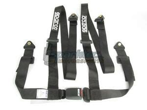 sparco racing seat belt safety harness tuner black
