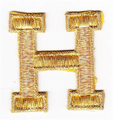 letters gold metallic   letter  iron  embroidered applique ebay