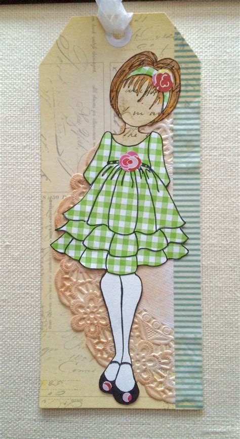 annie suzabella paper doll tags  julie nutting stamps