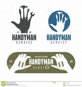 Handyman Logos, Emblems, Badges In Vintage Style Stock