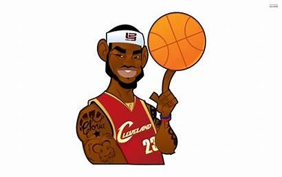 Cartoon James Lebron Nba Clipart Basketball Vector