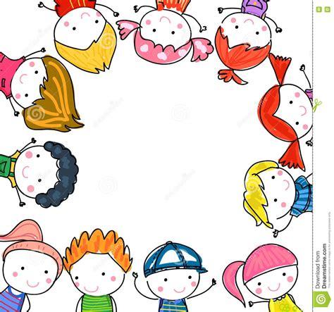 foto de Group Of Kids Drawing Sketch Stock Vector Illustration