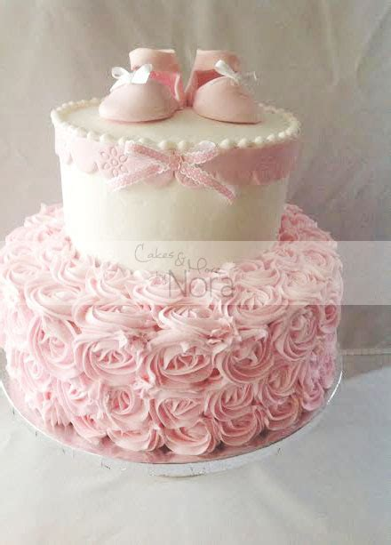 shabby chic baby shower cakes a shabby chic baby shower it s a girl cakes and more by nora