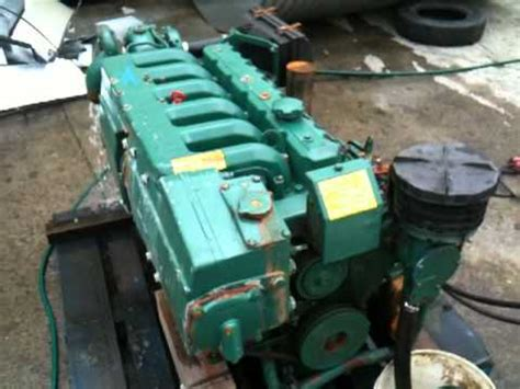 volvo penta aqad  hp running youtube