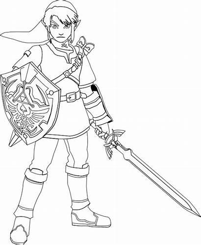 Zelda Coloring Pages Link Legend Sword Printable