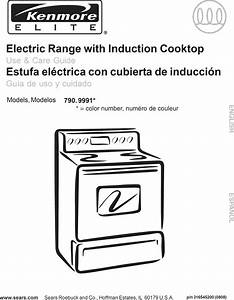 Kenmore Elite 79099913800 User Manual Electric Range