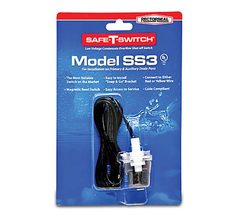 rectorseal  safe  switch ss ac condensate pan