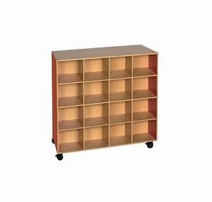 meuble a doudous 32 cases meuble pour maternelle en With meuble 16 cases