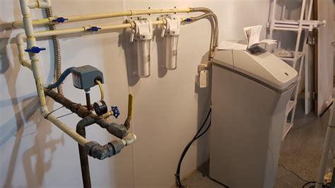 softener water install system ge filtration hard test gxsh40v