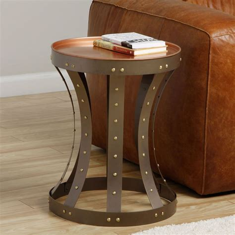 drum style coffee table drum style endtable india sofa end tables shopping