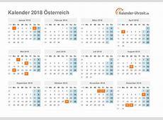 Feiertage 2018 Österreich Kalender & Übersicht