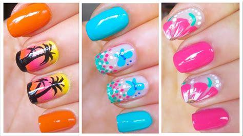 cute nail art designs  springsummer  youtube