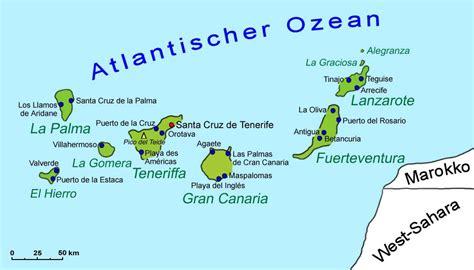 karte regionen spanien europakarte mit kanarischen inseln