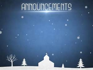 Winter Snow Announcements | Motion Worship | WorshipHouse ...
