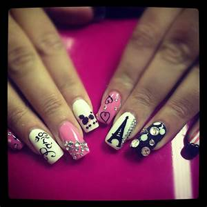 Love paris nail art designs