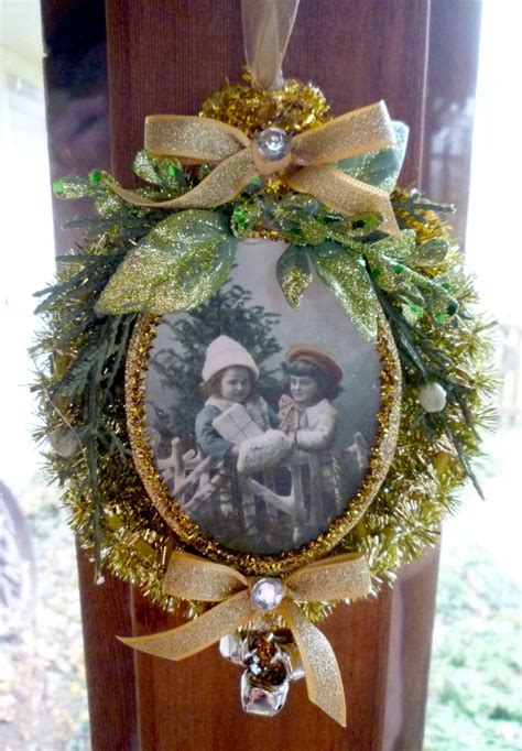 fashioned golden tinsel ornament - Old Fashioned Christmas Ornaments To Make