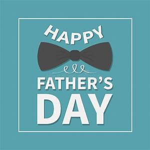 Happy Fathers Day. Greeting Card With Big Black Neck Bow ...